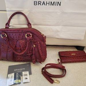 Brahmin Louise Rose Handbag and wallet 03-400